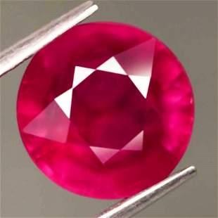 2,24 cts Natural Round Blood Red Ruby