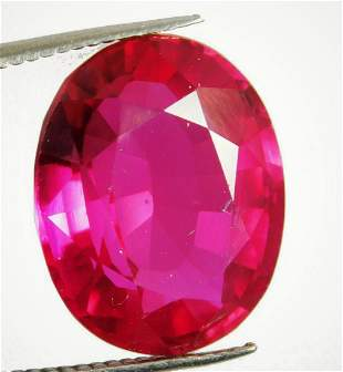 1,28 cts Natural Oval Blood Red Ruby