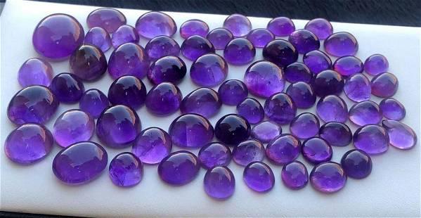 446 Carats Beautiful Purple Amethyst Cabochons