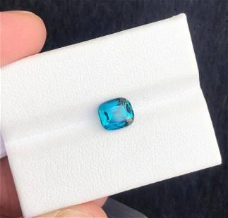 1.5 Carats Top Blue Tourmaline Gemstone
