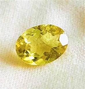 Yellow Canary Tourmaline Certified - 1.02 ct