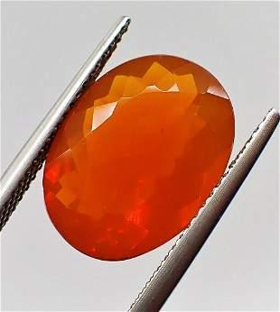 Fire Opal Certified - 5.35 ct