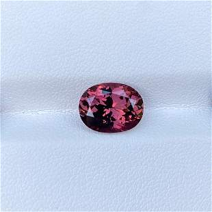 Natural Unheated Pink Spinel 3.42 Cts Oval Cut VVS