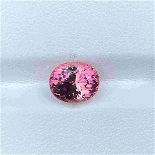 Natural Unheated Pink Tourmaline 3.30 Cts Oval Cut VVS