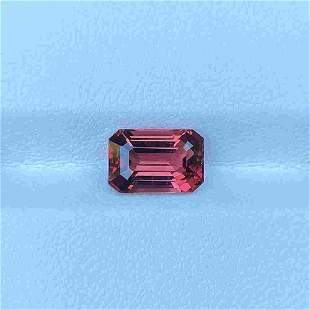 Natural Unheated Pink Tourmaline 2.66 Cts Emerald Cut
