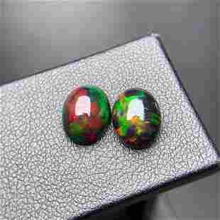 Natural Oval Cut 3.94Carats Opal Loose Gemstone 2 pac