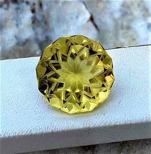 Flower Cut Citrine Quartz - 55.85 Carats