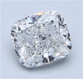 GIA CERT 1.51 CTW CUSHION DIAMOND GSI2