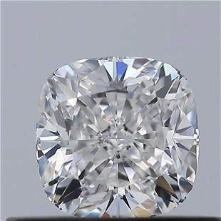 GIA CERT 0.50 CTW CUSHION DIAMOND DVS1