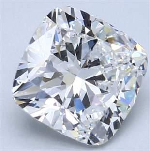 GIA CERT 3.01 CTW CUSHION DIAMOND FSI1