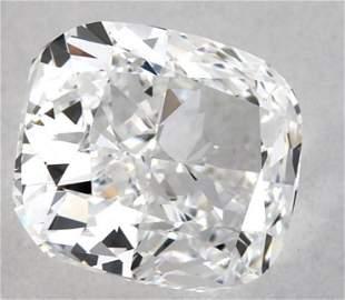 GIA CERT 0.90 CTW CUSHION DIAMOND DVS2