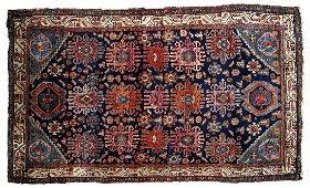 Handmade antique Persian Malayer rug 4.1' x 6.3' (125cm