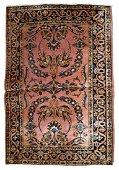 Handmade antique Persian Sarouk rug 3.3' x 5.2' (100cm