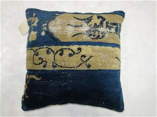 Blue Chinese Rug Pillow