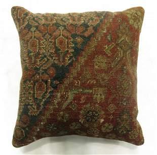 Rustic Persian Antique Rug Pillow