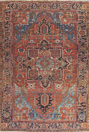 Vintage Heriz Serapi Persian Area Rug 8x11