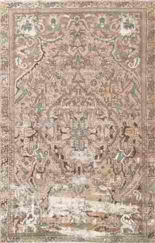 Vintage Distressed Bakhtiari Persian Area Rug 6x9