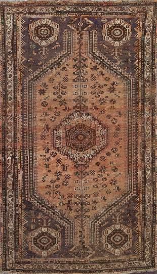 Vintage Shiraz Persian Area Rug 5x8
