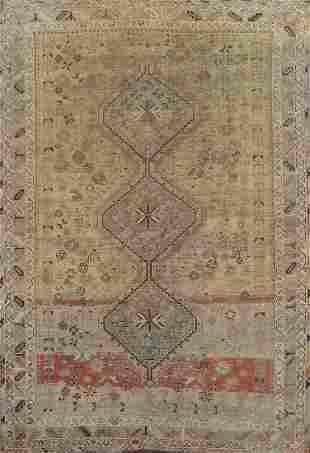 Vintage Distressed Shiraz Persian Area Rug 6x8