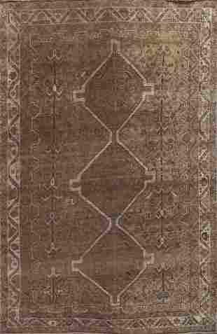 Pre-1900 Vintage Qashqai Persian Area Rug 6x8