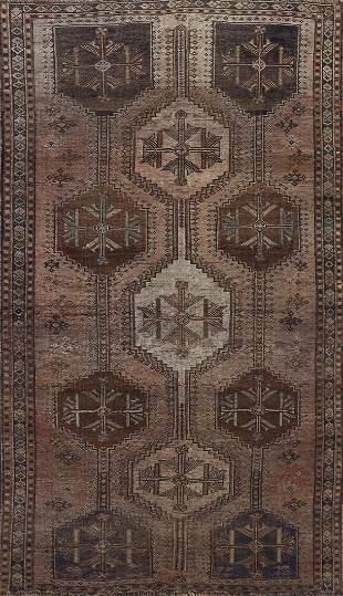 Pre-1900 Vintage Qashqai Persian Area Rug 5x8