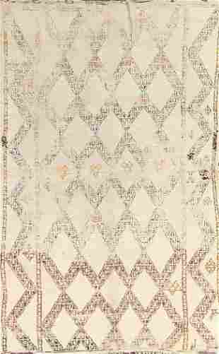 Vintage Moroccan Wool Area Rug 6x9