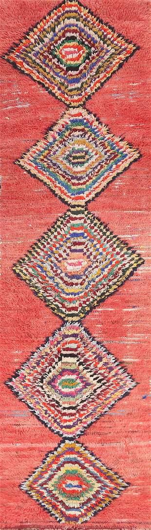 Vintage Moroccan Runner Rug 2x10