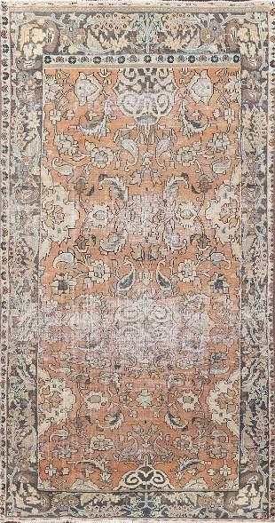 Vintage Distressed Bakhtiari Persian Area Rug 5x8