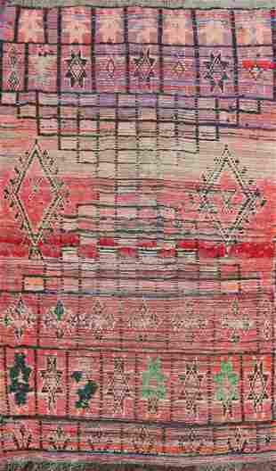 Vintage Moroccan Oriental Area Rug 4x7