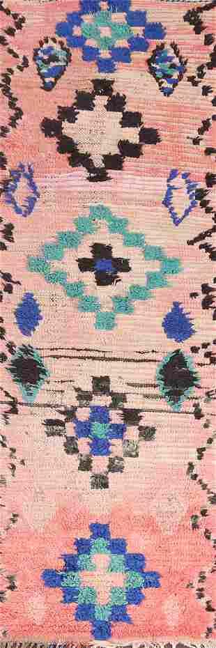 Vintage Moroccan Runner Rug 3x9