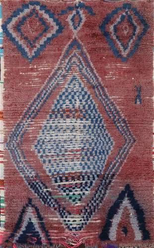 Vintage Moroccan Area Rug 4x6