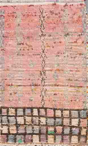 Vintage Moroccan Oriental Area Rug 2x4