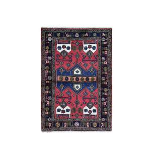 New Persian Afshar with Animal Figurines Border, Wool