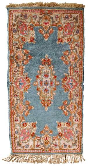 Handmade vintage Persian Kerman rug 1.9' x 3.8' (60cm x