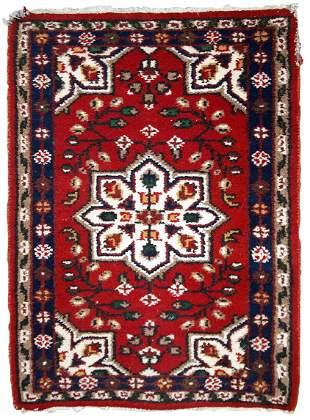 Handmade vintage Persian Hamadan rug 2' x 3' (62cm x
