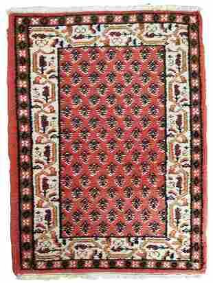 Handmade vintage Indi-Seraband rug 2' x 2.9' (62cm x