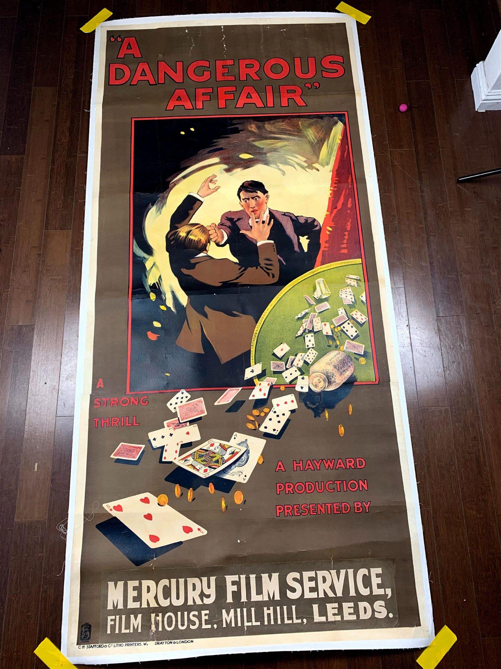 A Dangerous Affair (1919) UK Three Sheet Movie Poster