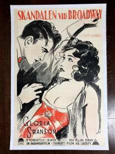 "A Society Scandal - Gloria Swanson (1925) 23.5"" X 35.5"""