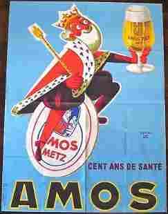 "Amos Brewery - Art by Raymond Gay (c.1930) 45"" x 60.5"""