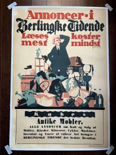 Annoncer Antike Mobler - Art by Thor Bogelund Jensen