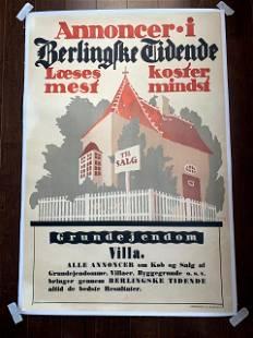 Annoncer Villa - Art by Thor Bogelund Jensen (1918)