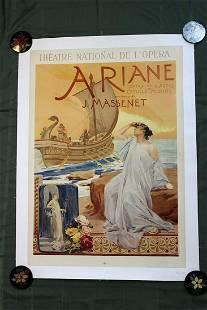 "Ariane - Art by Maignan (1906) 36"" x 25.25"" French"