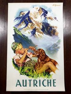 "Autriche - Art by Andre Gerand (1930) 25.25"" x 37.5"""