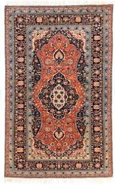 Antique Persian Mohtasham Kashan, 4'7'' x 7'6''