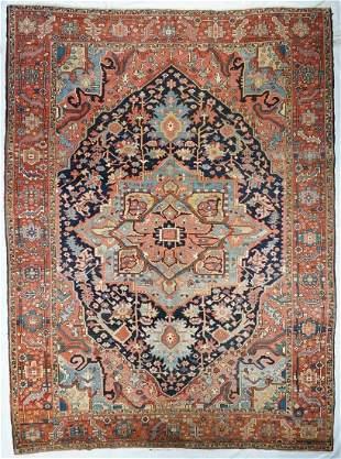 Antique Persian Serapi Area Rug, 9'4'' x 12'5''