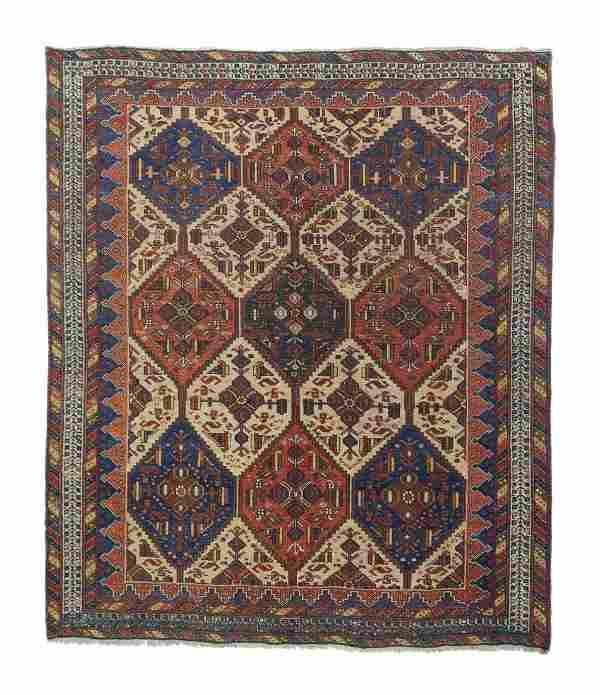 "Antique Persian Afshar, 5'3"" x 6'4"""