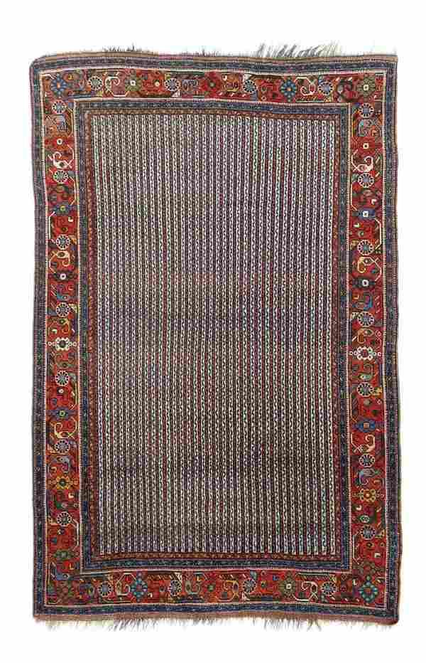 "Antique Persian Afshar, 4' x 6'3"""