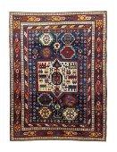 Antique Caucasian Kazak, 6' x 8'