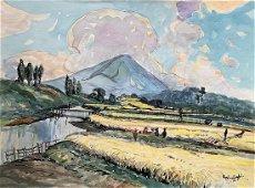 Muslim Saleh -(b. 1927 Sumatra)- painting