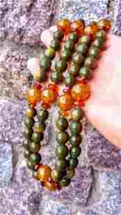 Unique Green with Gold colour accents Baltic Amber -
